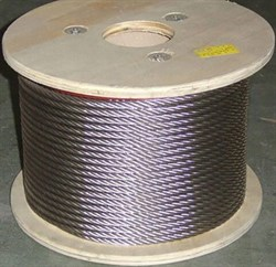 Трос нержавейка AISI 304 (A2) для скваженных насосов диаметр  4 мм.    (бухта 250 метров) - фото 5009