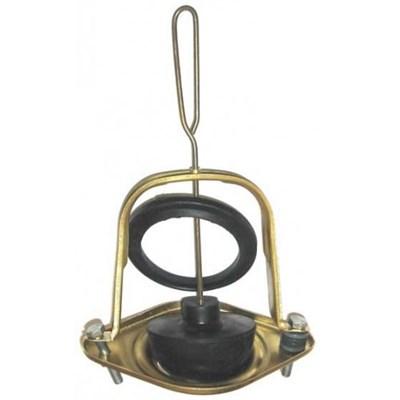 Колонка бокового слива анодированная, латунный шток, резиновая груша - фото 5508
