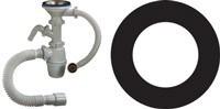 Резиновая прокладка для сифона нержавеющей мойки (42*70*2 мм.) (заг 3\4 дюйма , 25*40 мм., труба 3\4 дюйма - 40*54 мм. чугун) - фото 5741