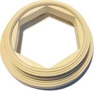 Прокладка (КК)         (кольцо ПВХ белое для унитазов  производства ROSA, Киров)