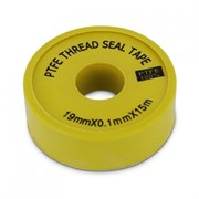ФУМ-лента желтая «большая» ( намотка 15м., толщина 0,1 мм.