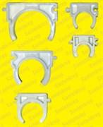 Клипса для металлопластика и полипропилена (с боковыми ушками, широкая) 40 мм.      100 шт. в упаковке