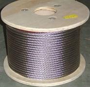 Трос нержавейка AISI 304 (A2) для скваженных насосов диаметр  4 мм.    (бухта 250 метров)