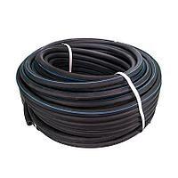 Рукав кислородный резиновый 6,3 мм., синяя полоса, внешний диаметр 13 мм.,                         (бухта 50 м.)