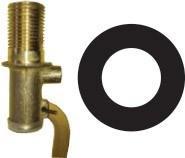 Резиновая прокладка  для трубы и штуцера 1\2 дюйма (21*38*2 мм.)